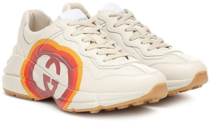 Rhyton leather sneakers