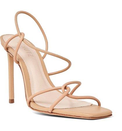 Schutz Colette Strappy Square Toe Slingback Sandal (Women) | Nordstrom