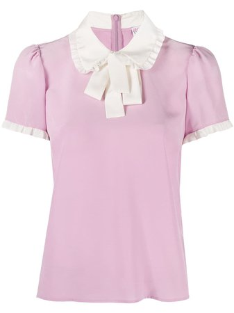 Red Valentino pussy-bow blouse