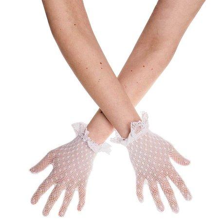 Blue Banana Frill Cuff Lace Gloves