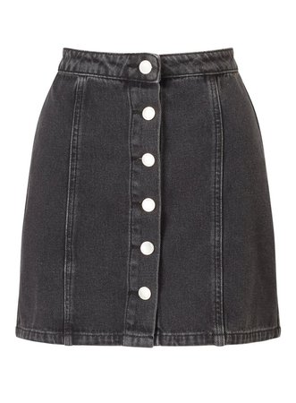 Black Button Denim Skirt - Skirts - Clothing - Miss Selfridge