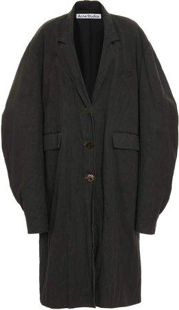Acne Studios Ottilie Oversized Coated Cotton Coat