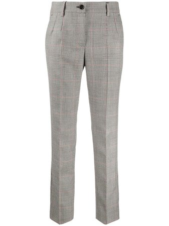 Dolce & Gabbana check-pattern Cropped Trousers - Farfetch