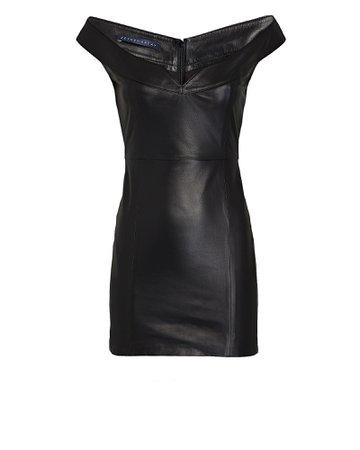Zeynep Arcay Princess Leather Mini Dress | INTERMIX®