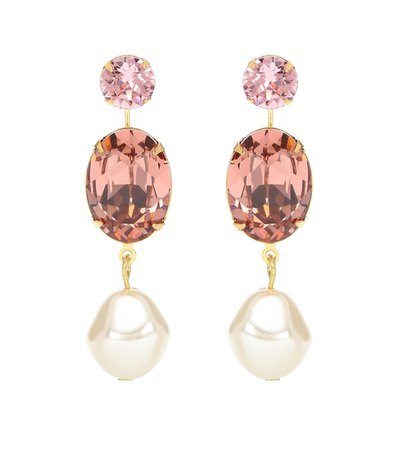 Meredith Crystal And Faux-Pearl Earrings - Jennifer Behr | Mytheresa