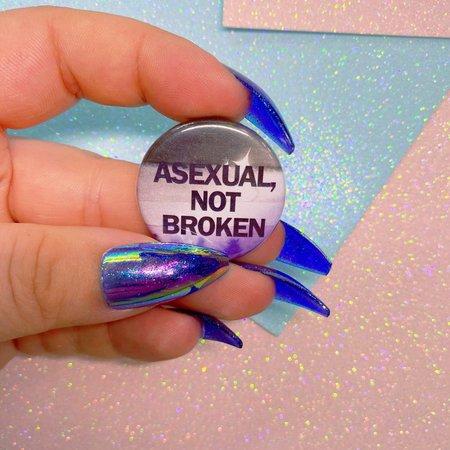 Asexual Not Broken Button Badge | Etsy