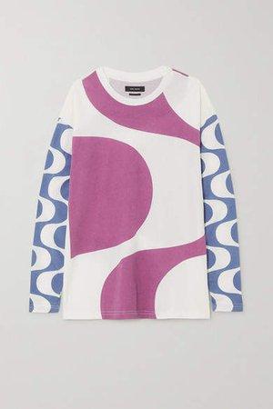 Leilo Printed Cotton-jersey T-shirt - Pink