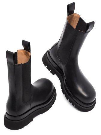 Bottega Veneta Lug Leather Chelsea Boots - Farfetch