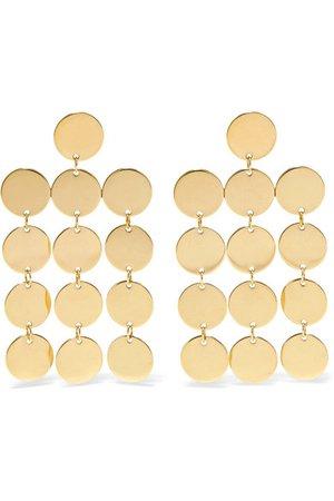 Saskia Diez   Paillettes Chandelier 18-karat gold-plated earrings   NET-A-PORTER.COM