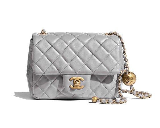 grey Chanel bag