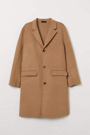 Cashmere-blend Coat - Beige