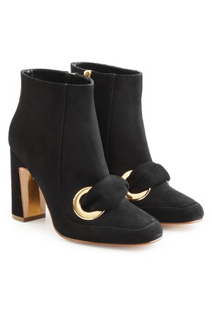 Suede Ankle Boots Gr. IT 37