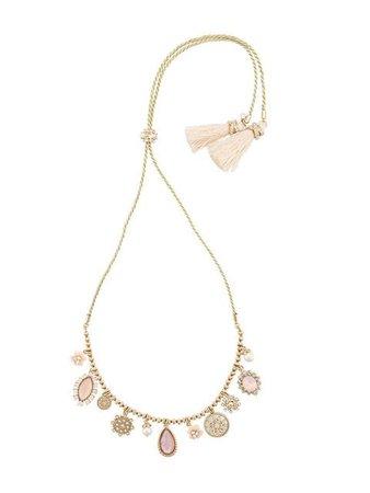 Marchesa Notte Tear Drop Pendant Necklace