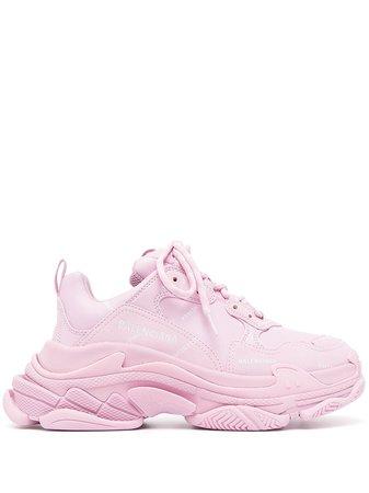Balenciaga Triple S Låga Sneakers - Farfetch