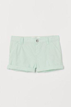 Cotton Shorts - Mint green - Kids | H&M US
