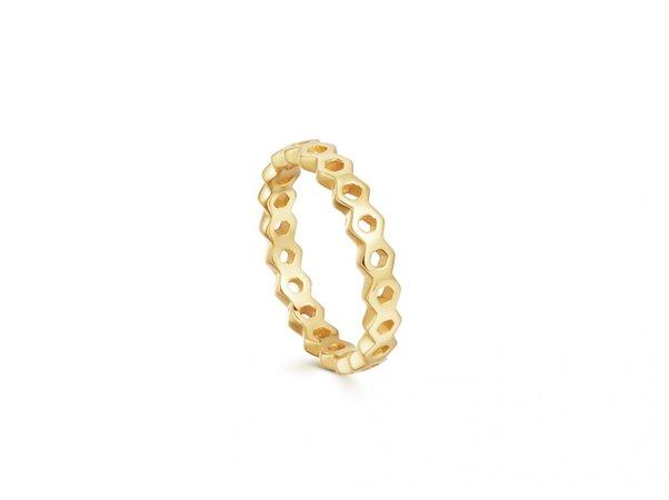 Gold Rhea Acre Ring | 18ct Gold Vermeil | Missoma