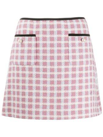 Miu Miu Short Tweed Skirt MG1359517 Blue | Farfetch
