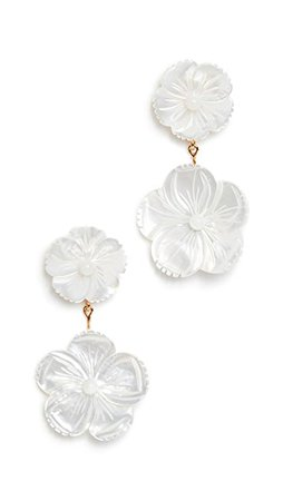 Jennifer Behr Tessa Earrings in Mother of Pearl | SHOPBOP