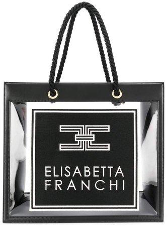 clear logo tote bag