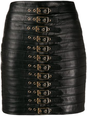 Manokhi Buckled Mini Skirt - Farfetch