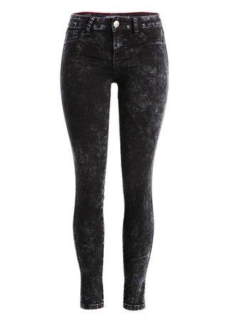 Dark Acid Wash Skinny Jeans