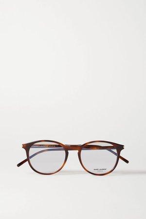 Tortoiseshell Round-frame tortoiseshell acetate optical glasses | SAINT LAURENT | NET-A-PORTER