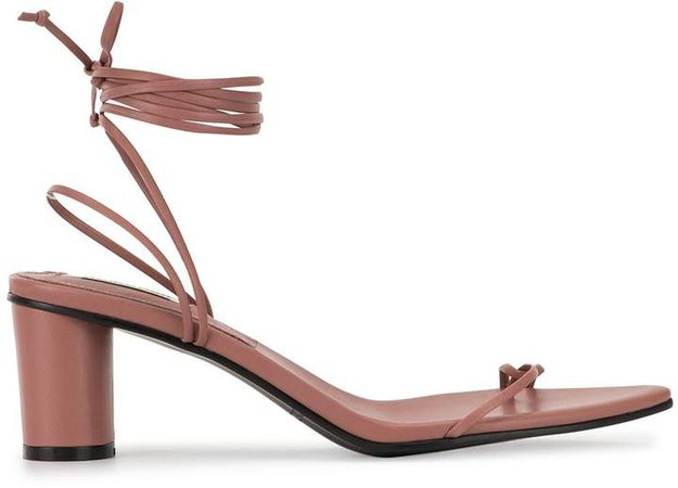 tie ankle sandals