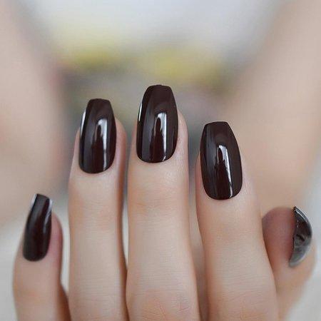 dark acrylic nails