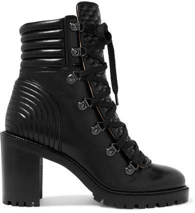 Mad 70 Spiked Quilted Leather Ankle Boots - Black