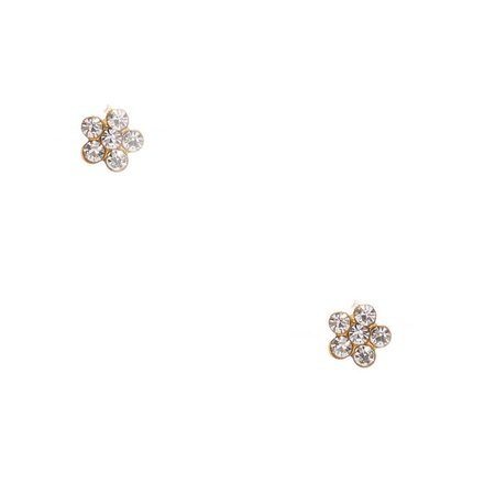 18kt Gold Plated Daisy Stud Earrings | Claire's