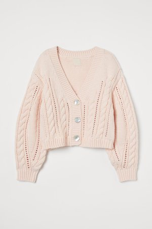 Cable-knit Cardigan - Light pink - Ladies | H&M US