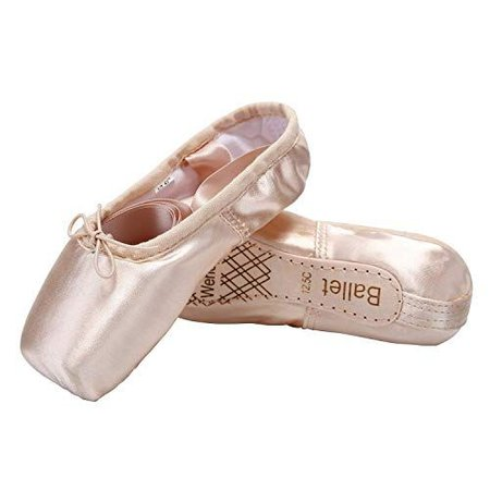 Wendy Wu Girls Womens Dance Shoe Pink Ballet Pointe Slippers Ballet Flats Shoes with Ribbons Toe Pads Black Pink Red | Ballet & Dance