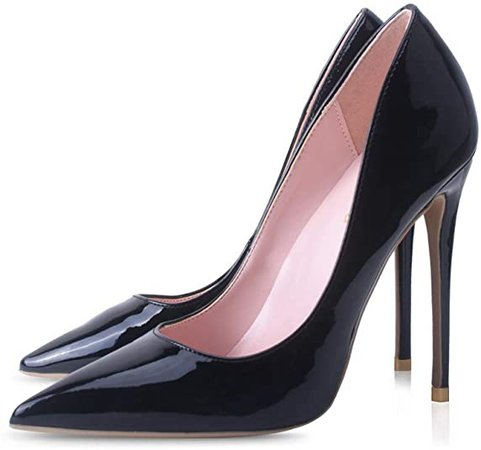 *clipped by @luci-her* Elisabet Tang Women Pumps, Pointed Toe High Heel 4.7 inch/12cm Party Stiletto Heels Shoes | Pumps