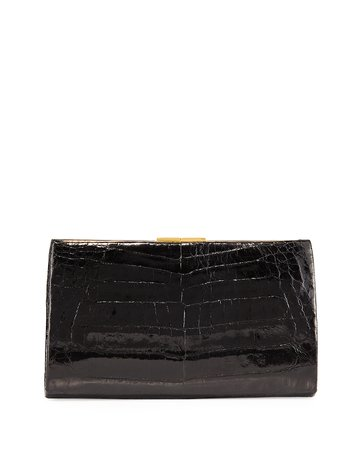 Frame Crocodile Clutch Bag