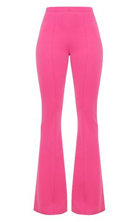 Fuchsia High Waist Extreme Flare Long Leg Pants   PrettyLittleThing USA