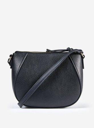 Black Curved Cross Body Bag   Dorothy Perkins