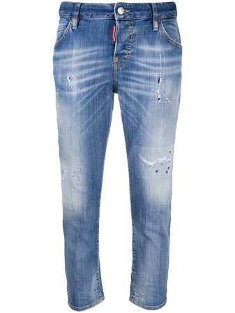 Dsquared2 Cropped Boyfriend Jeans - Farfetch