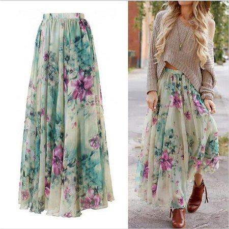 Summer Boho Maxi Skirt
