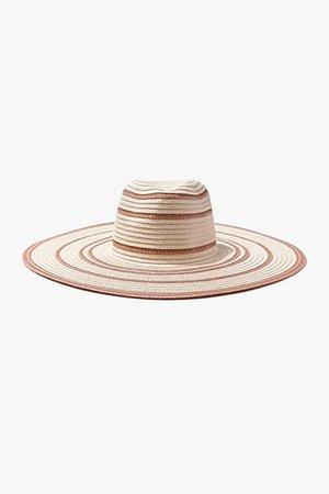 Striped Floppy Straw Hat | Forever 21