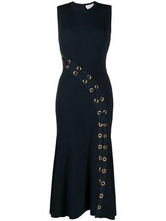 Alexander McQueen Eyelet rib-knit Dress - Farfetch
