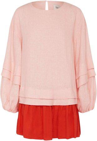 Aje Quietude Linen Mini Dress