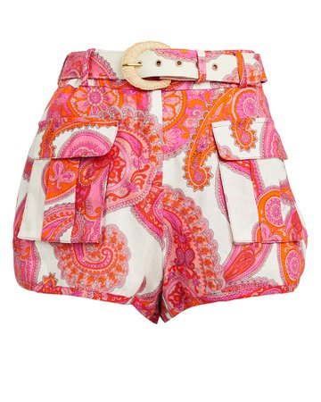 Zimmermann   Peggy Paisley Safari Shorts   INTERMIX®