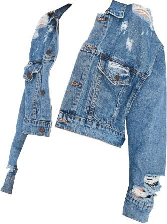 Light Ripped Denim Jacket (png)