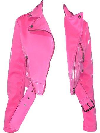 azalea wang liquid velvet pink moto jacket