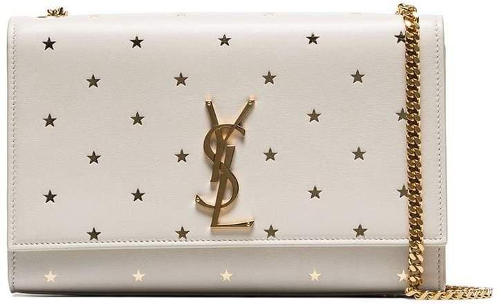 monogrammed star-embellished shoulder bag