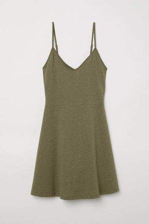 Short Jersey Dress - Green