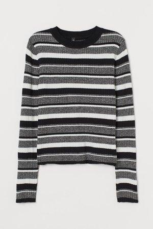 Fine-knit Top - Black