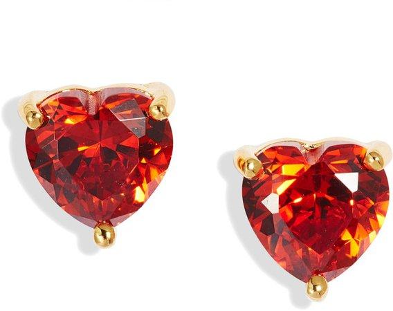 2ct tw Cubic Zirconia Heart Stud Earrings