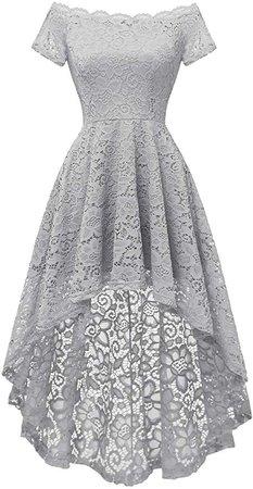 Amazon.com: Dressystar Women's Lace Off Shoulder Cocktail Hi-Lo Bridesmaid Swing Dress: Clothing