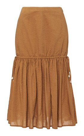 Seashell Midi Skirt by Marysia   Moda Operandi